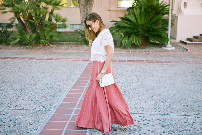 walking maxi skirt