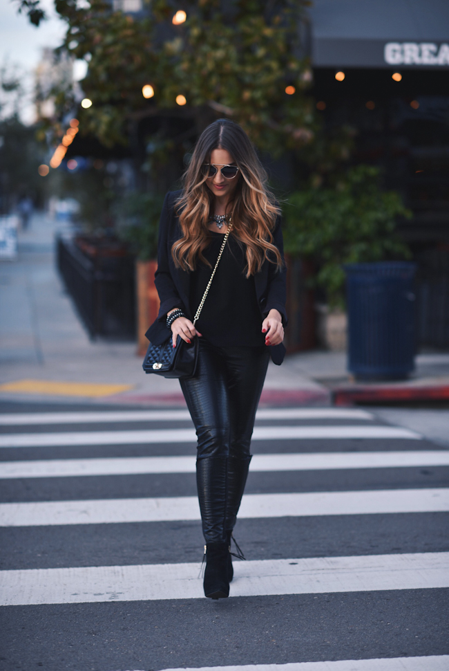 black blazer leggings