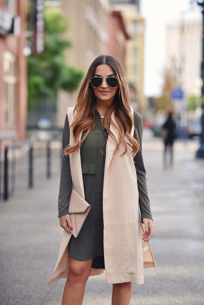 olive dress topshop