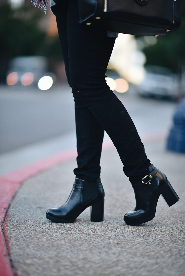 payless shoesource ankle booties black christian siriano
