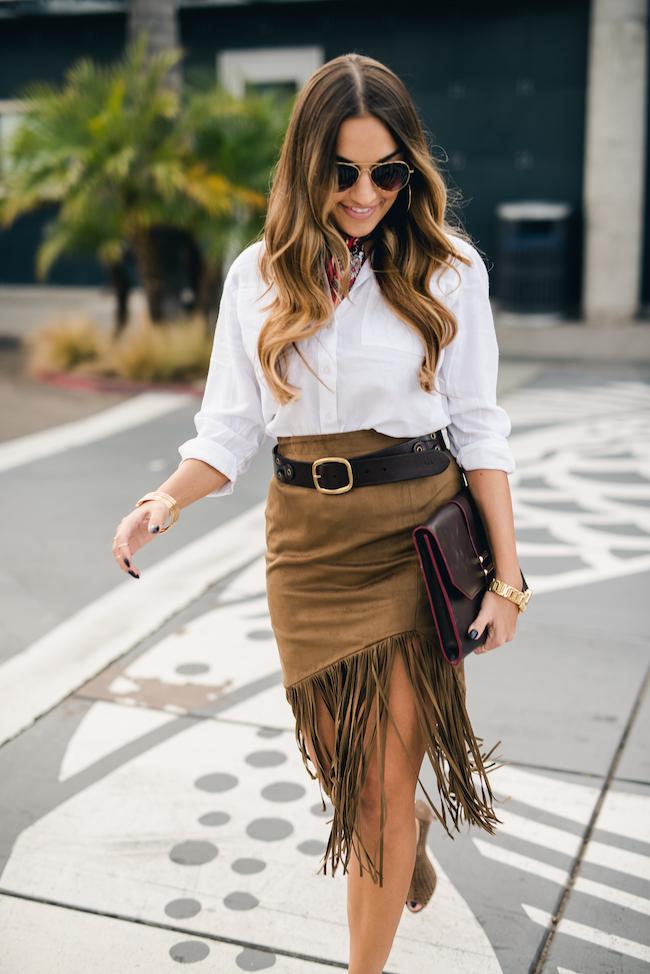 Tularosa Fringe Skirt