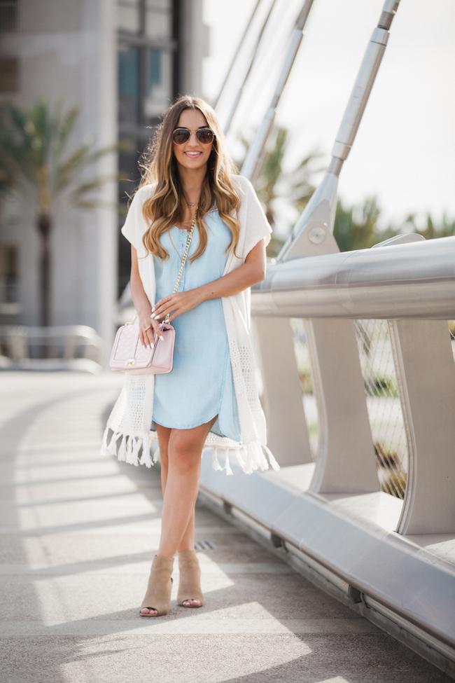 chambray dress olia