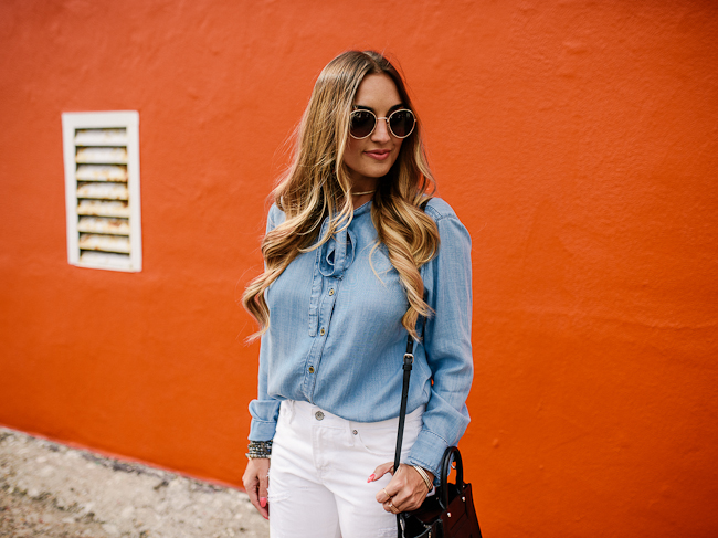 Guess Chambray Top