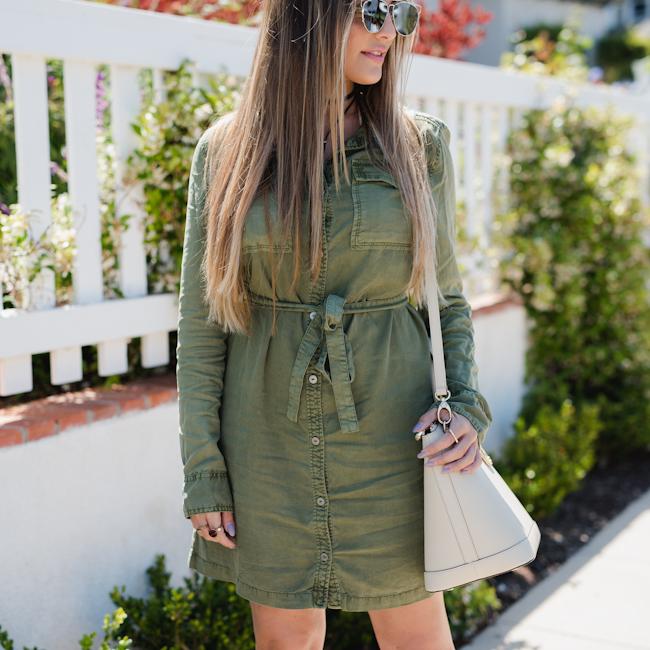 Sanctuary Olive Cargo Dress-5