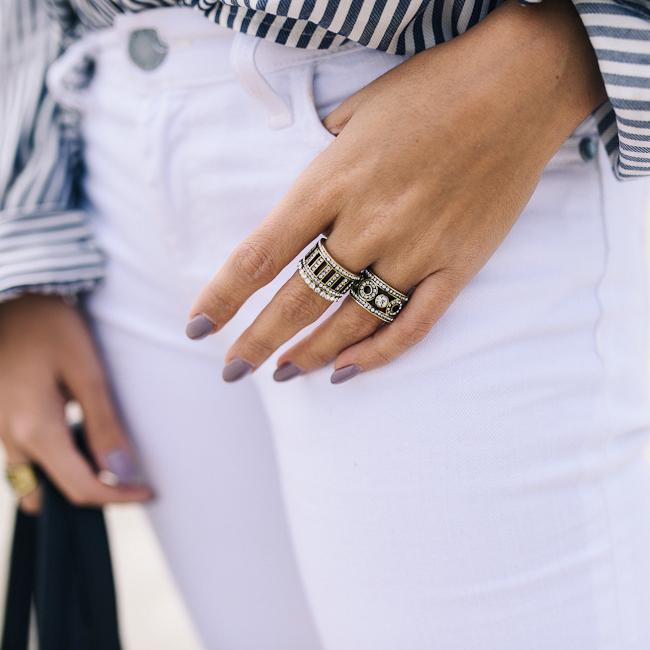 Stripe Button Down Boyfriend Blouse-8