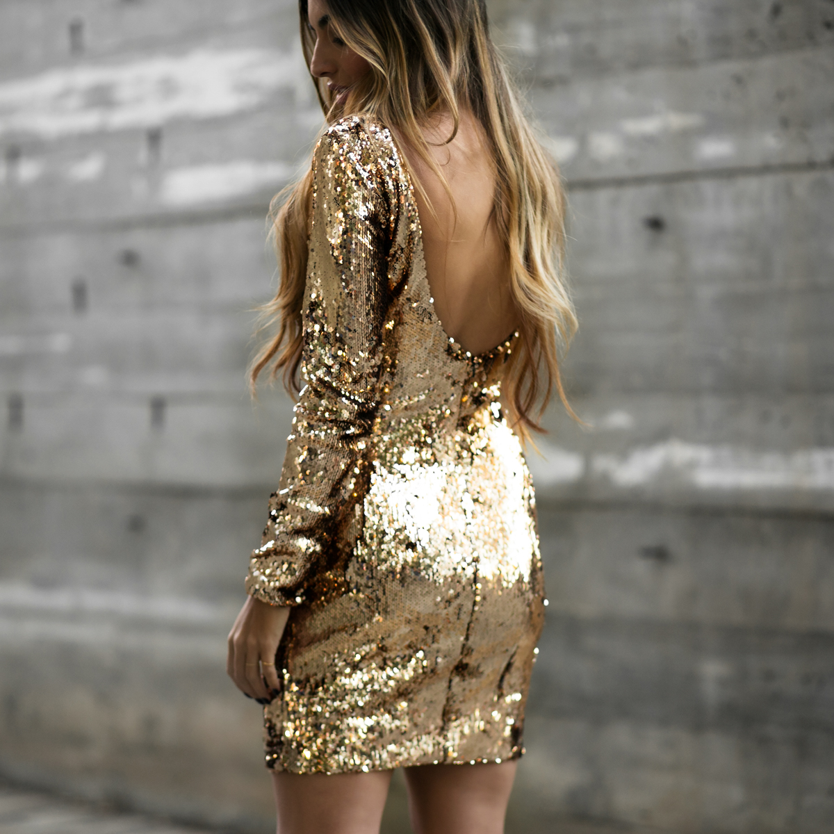 Lulus Sequins Dress