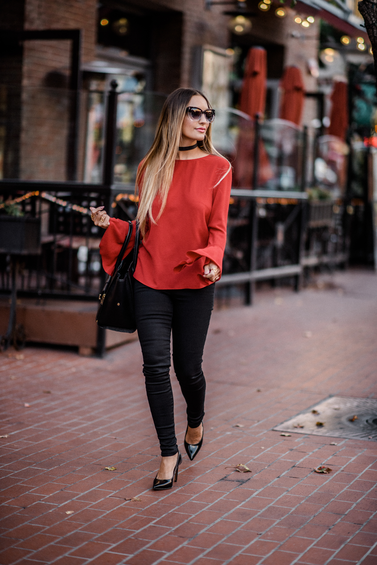 WAYF Red Blouse