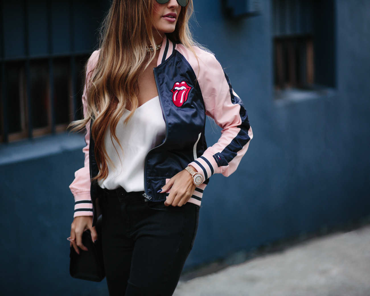 Tommy Rolling Stones Bomber Jacket