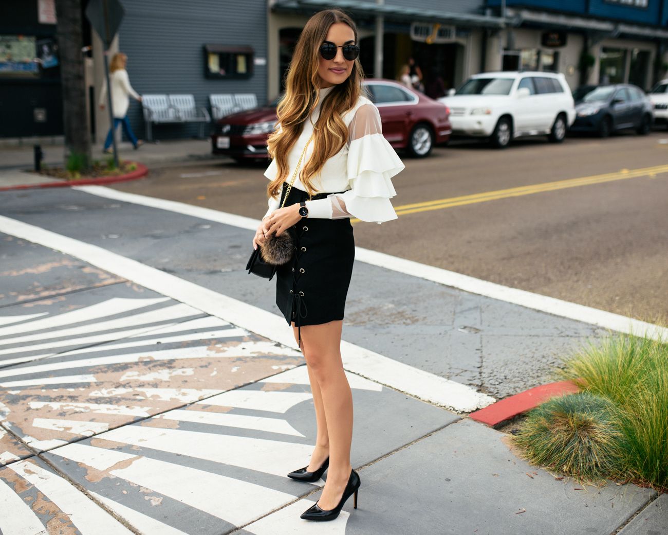 Chicwish Black White Outfit-3