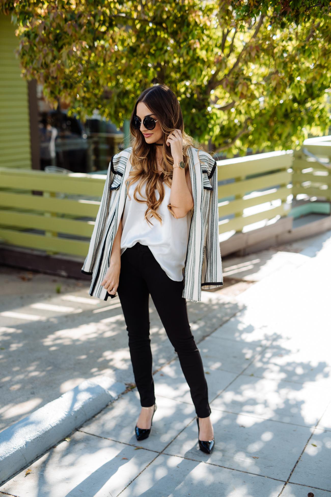 Rebecca Minkoff Striped Jacket