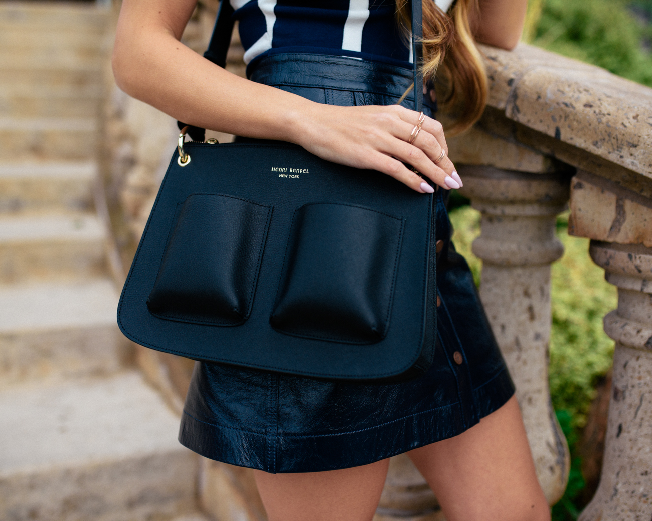 henri bendel black crossbody