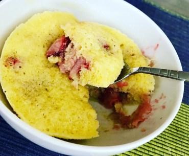 Strawberry Muffin in a Bowl Recipe