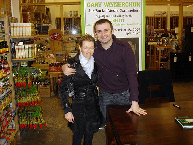 Angelika Ilina and Gary Vaynerchuk