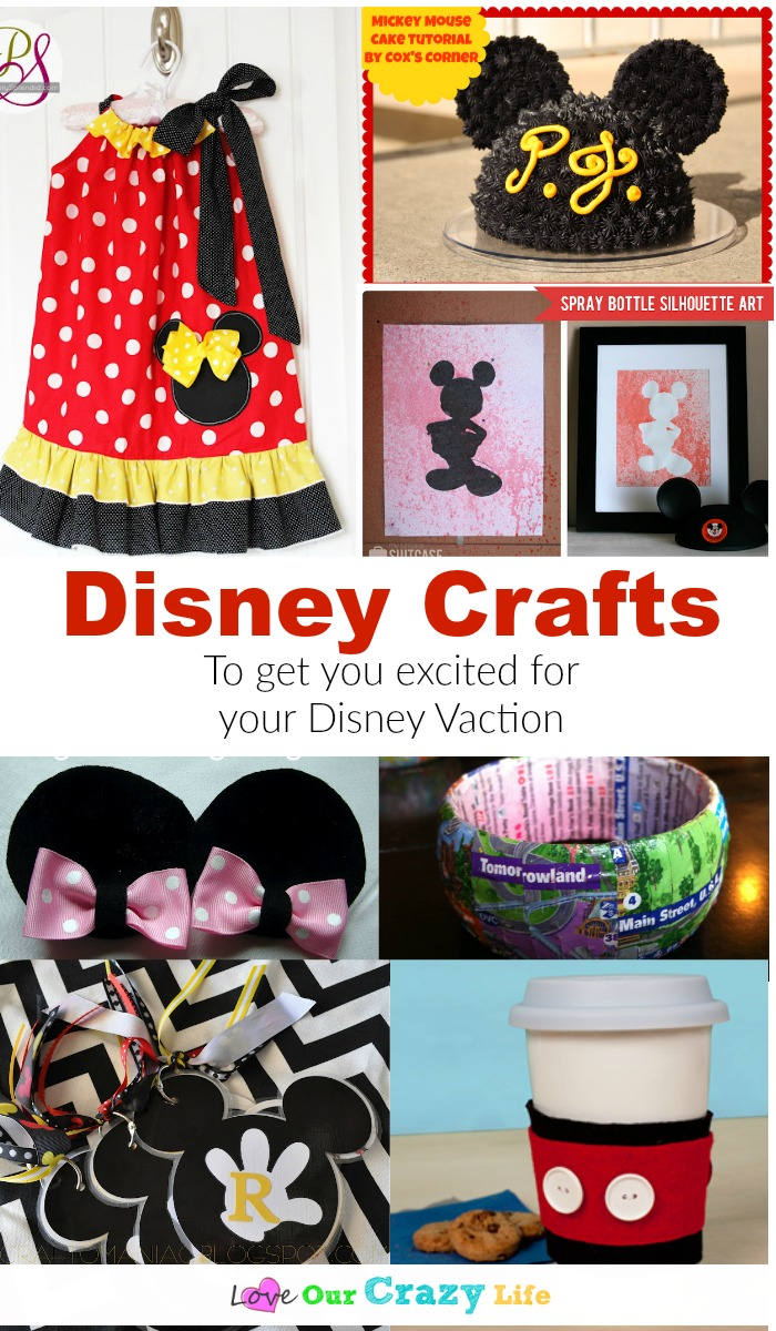 These Disney craft ideas are perfect to get you excited for a trip, or just add a little Disney magic to your every day.
