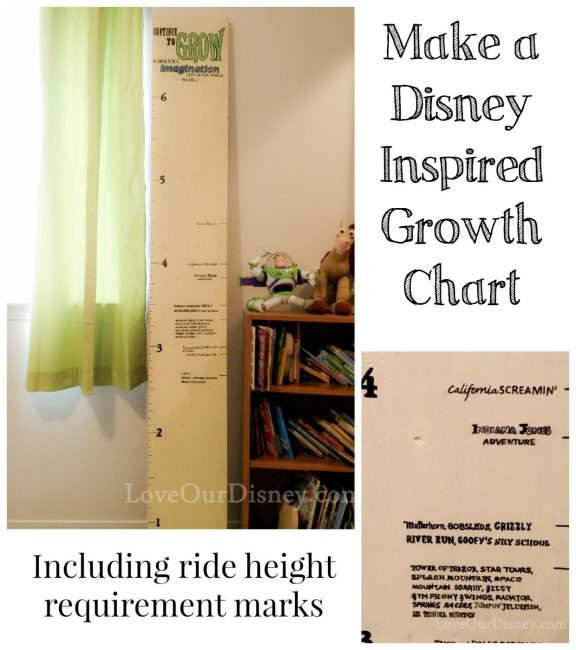 DIY Disney Growth Chart {With Ride Height Requirements}