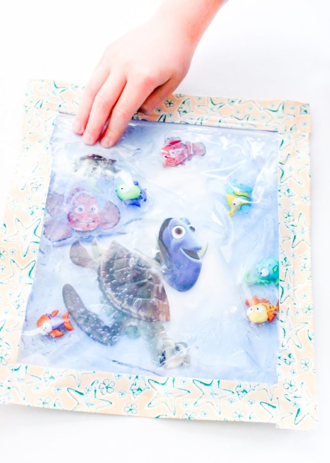 Awesome Finding Dory sensory bag is the perfect calm down activity