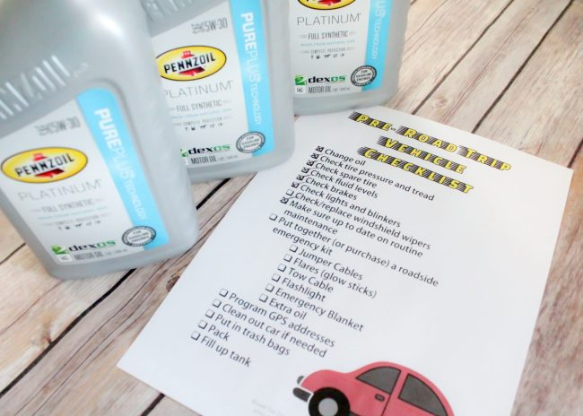FREE printable pre-road trip checklist