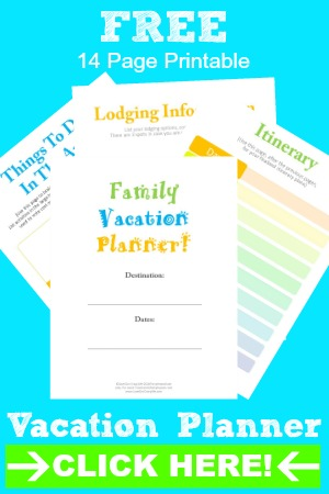 Free Vacation Planner Printable