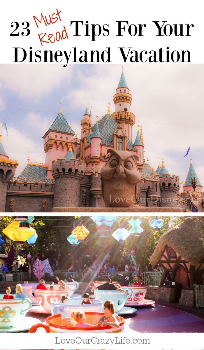 Tips for your Disneyland Vacation. Great quick read of tips that will help make your Disney vacation even better.