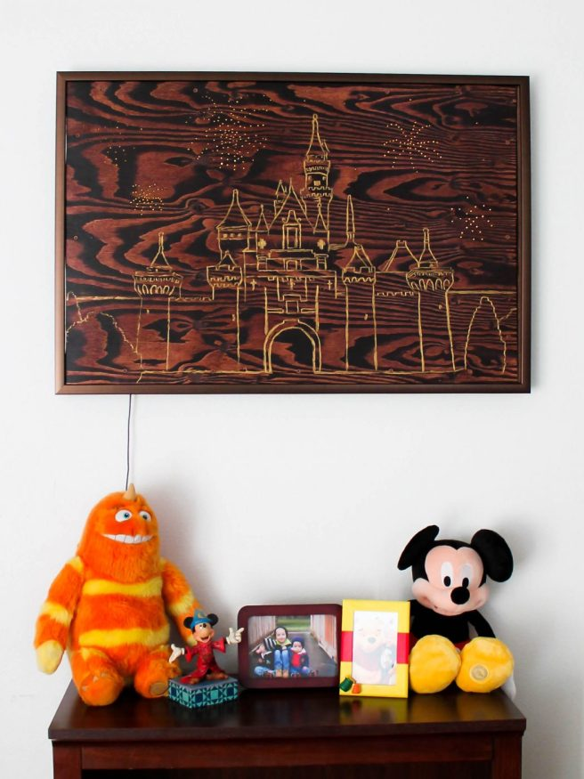 Wall hanging inspired by Disneyland Hotel Headboard