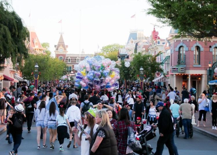 crowds at Disneyland during Spring Break