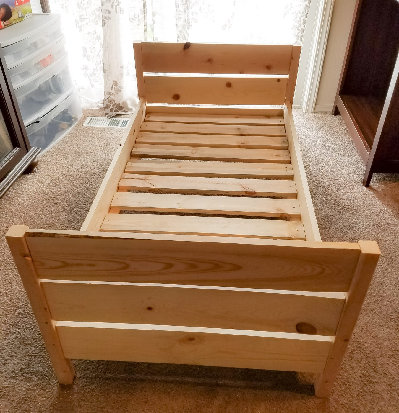 Lovely Diy Toddler Bed Part - 6: DIY Toddler Bed Is A Simple Weekend Project. We Even Did Ours In Our Living
