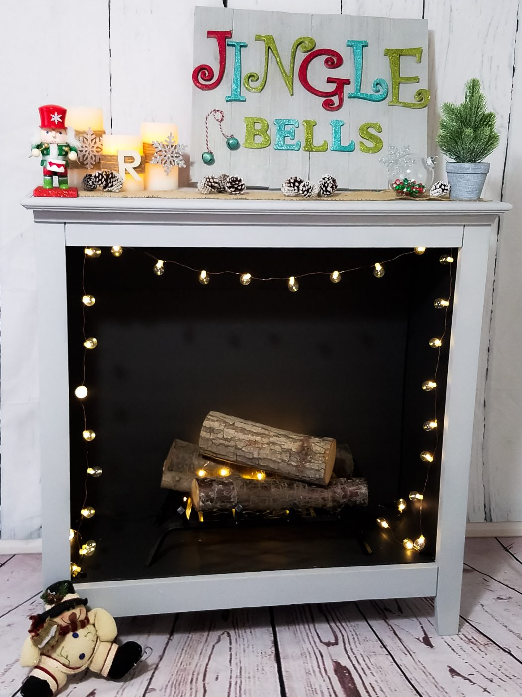 DIY Old Bookshelf To Faux Fireplace Love Our Crazy Life