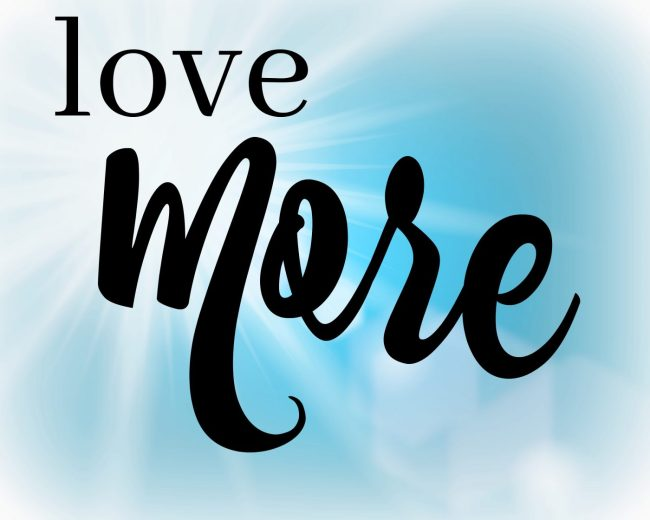 one word for 2018 love more