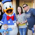 Where to park at Disneyland and other great info. Family at Disneyland with Donald Duck