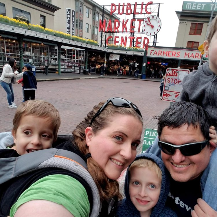 Wear babies and toddlers when visiting Pike Place Market with kids