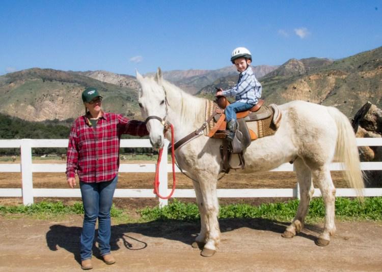 Hand-led horse rides at Rancho Oso near Santa Barbara, CA