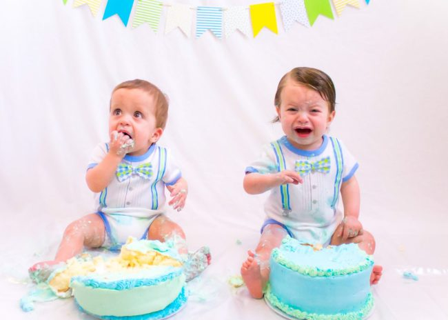 twin Cake smash but no birthdayparty