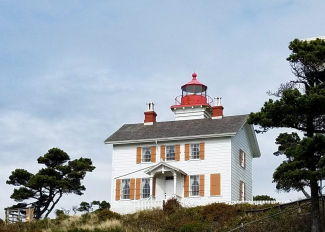 Yaquina Bay lighthouse in Newport, Oregon