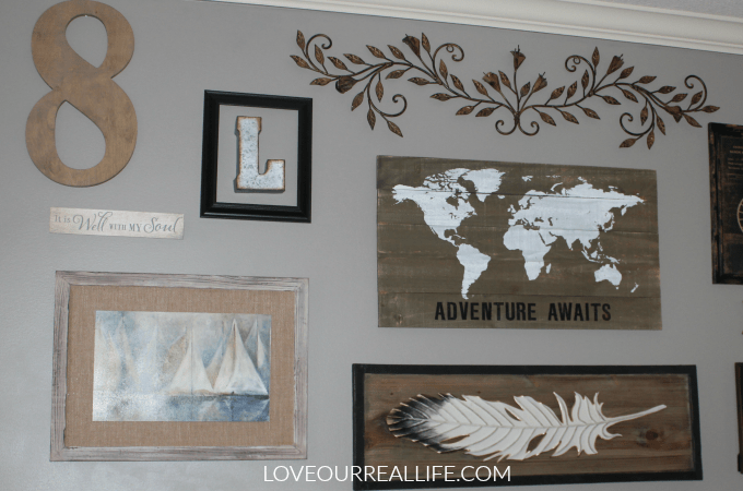 Gallery wall, create your own personal gallery wall, gallery wall above television, steps to create a gallery wall, gallery wall tutorial
