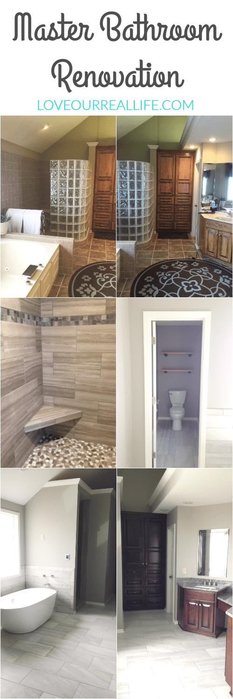 Renovate master bathroom, update master bathroom