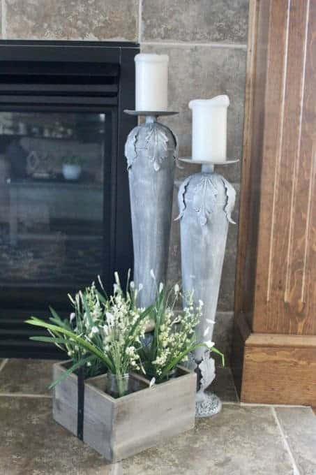 Candlestick transformation with spray paint and chalk paint