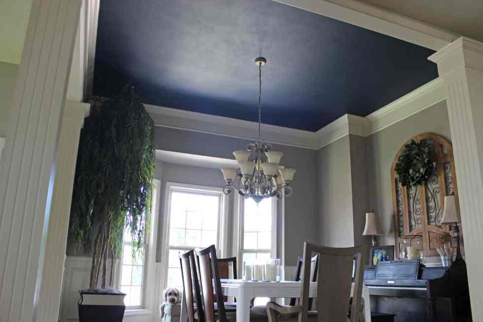 Painted ceilings, blue dining room ceiling, Naval ceiling