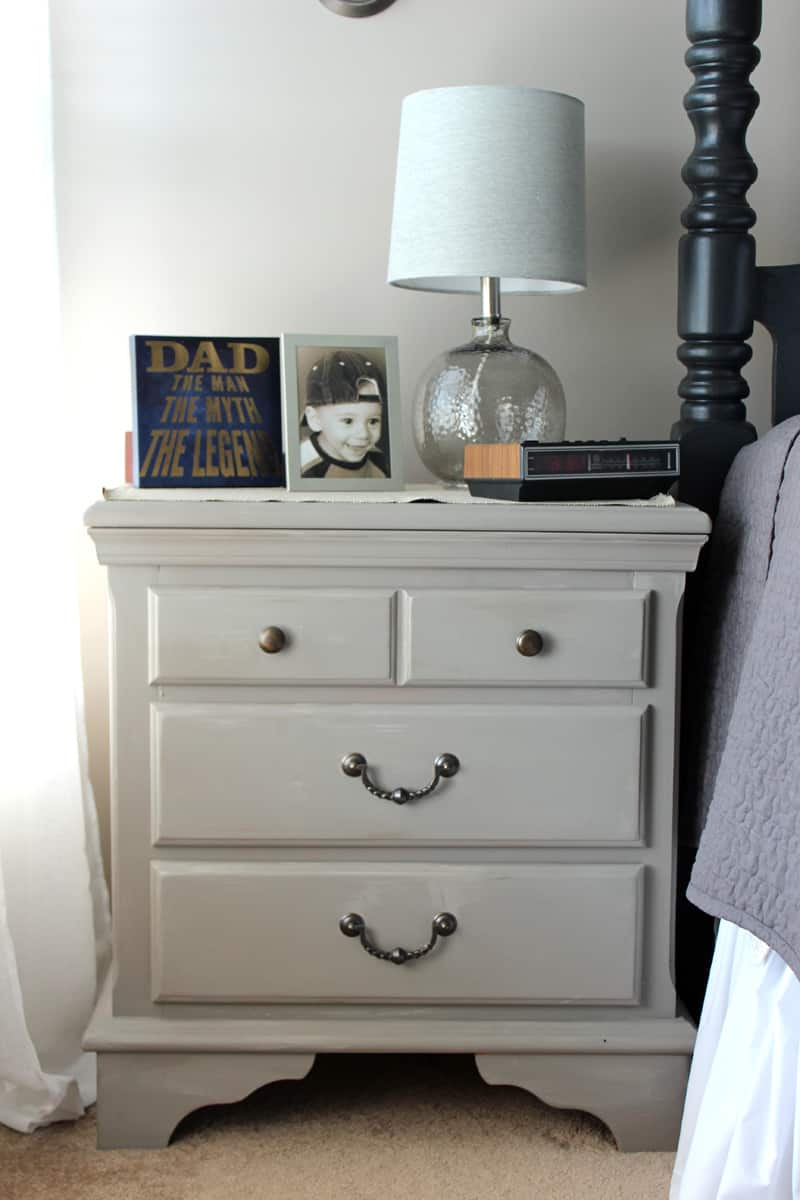 Night stand makeover, Before and after furniture, Annie Sloan chalk paint, French Linen