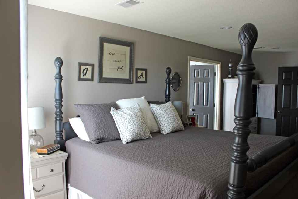 Furniture makeover, before and after furniture projects, painting bedroom furniture, black chalk paint