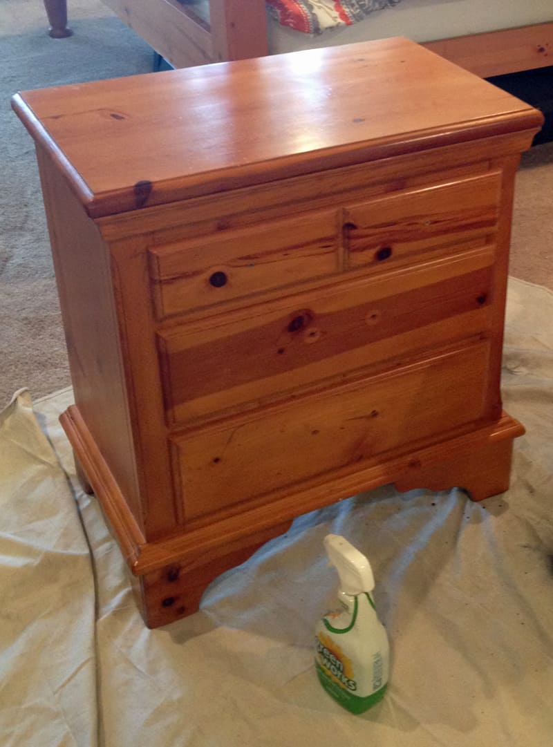 Before and after furniture makeover, chalk paint , Annie Sloan, French Linen