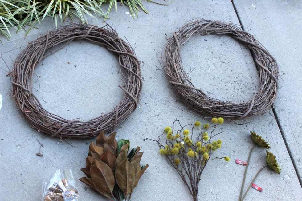 fall wreath, DIY fall wreath, fall wreath for front door, double door wreath, DIY wreaths for double doors
