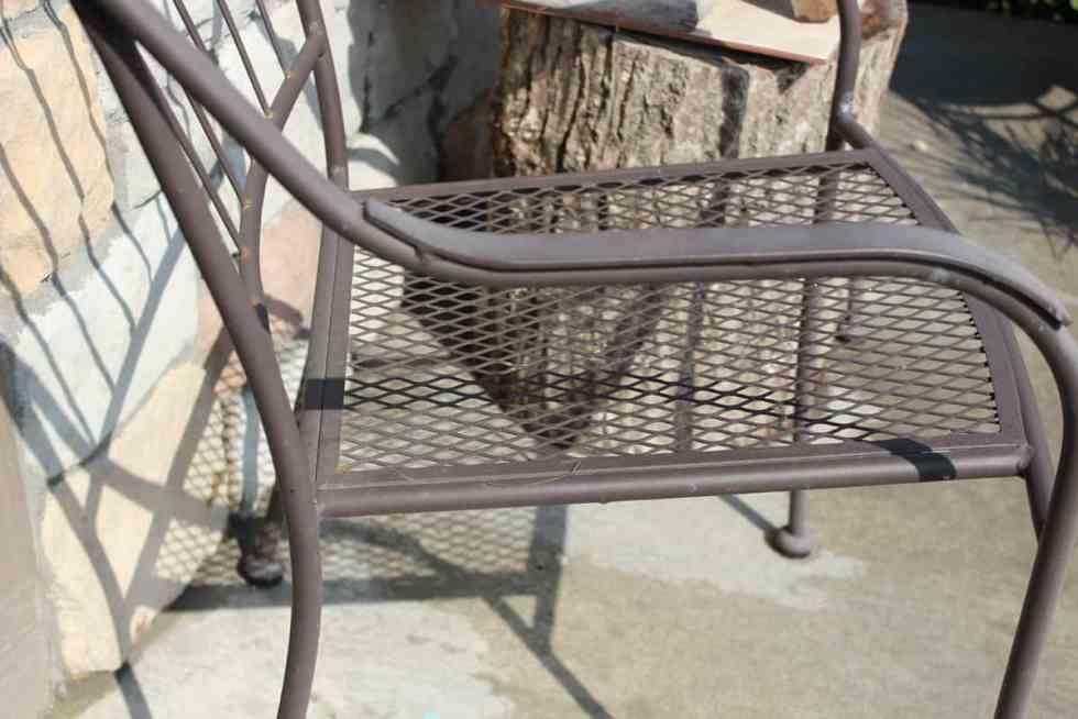 spray paint outdoor chairs, rustoleum spray paint, bronze spray paint