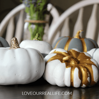 DIY Pumpkins With Metallic Acrylic Paint and Spray Paint