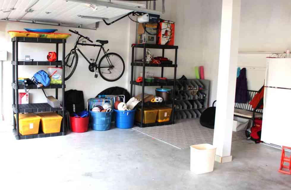 garage organization, garage cleanup, mudroom in garage