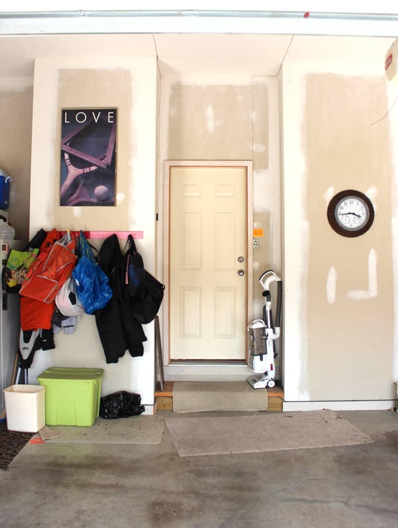 Garage organization, preparing a garage for winter, garage cleanup, painting a garage
