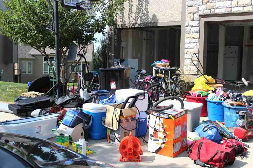 garage organization, cleaning out a garage, reorganizing a garage, preparing a garage for winter
