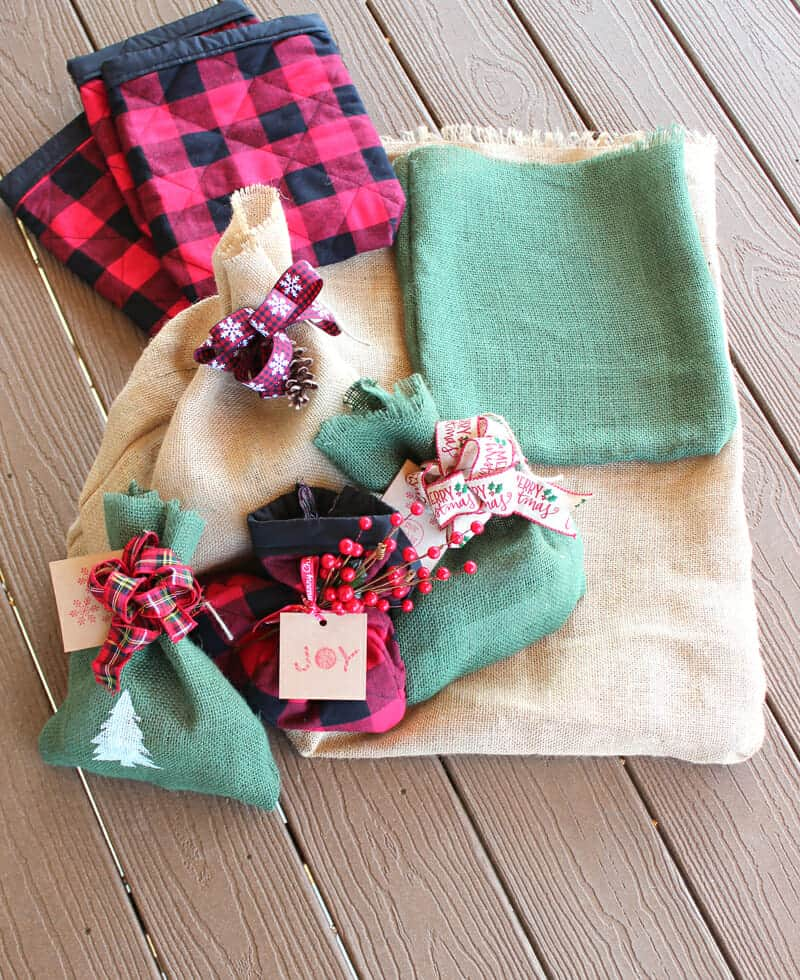 Reusable fabric gift sacks for all occasions
