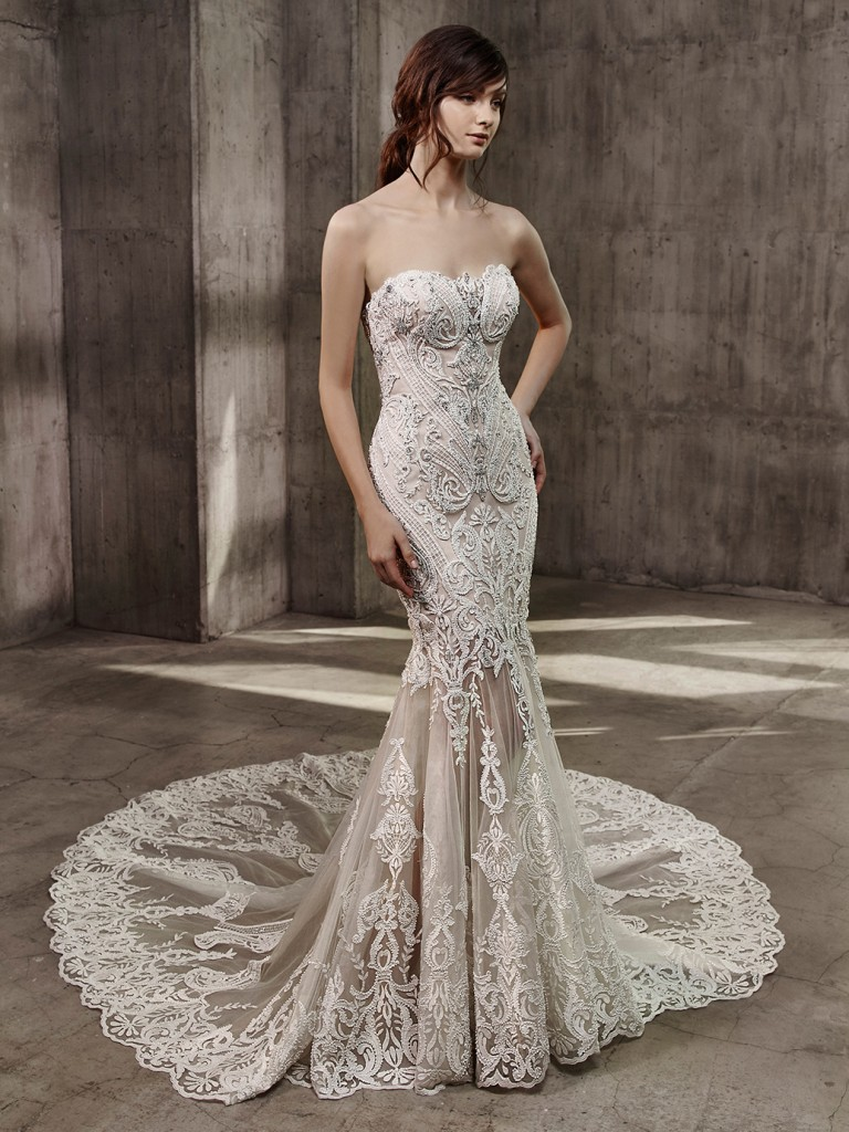 6 Hollywood glamour wedding dresses from Badgley Mischka - Find Your ...