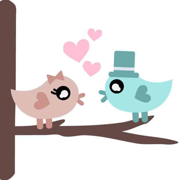 Download Free Love Birds SVG Cutting File for Silhouette and ...