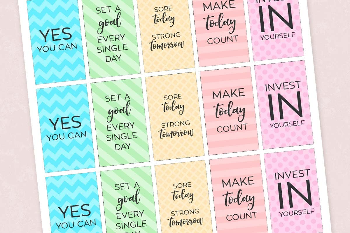 Free Printable Motivational Gym Amp Fitness Planner Stickers